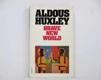 Heinrich Hoerle Cover Painting ~ Brave New World by Aldous Huxley 1980 Vintage Book