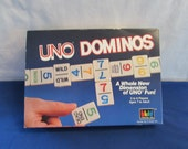 UNO DOMINOS Whole New Dimension of Fun 1987