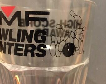 "SALE —1/2 OFF  Vintage AMF ""High Score Award"" Bowling Glass"