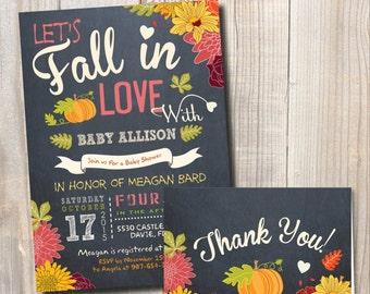 Fall Baby Shower Invitation. Little Pumpkin Baby Shower. DIY card. Digital Printable card