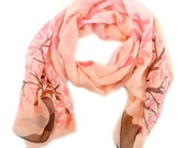 Breast Cancer Scarf, Pink Ribbon Scarf, Pink Turban Scarf, Women's Scarf, Pink Cancer Scarf, Breast Cancer, Pink Ribbon, Cancer Awareness