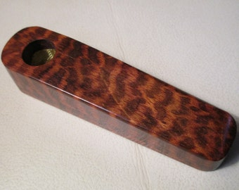 "SNAKEWOOD 3.5"" Wood Pipe One of the most EXPENSIVE woods in the world 1/2"" diameter bowl, 1/2"" deep LotZ117 pipe Uncle John's Pipes"