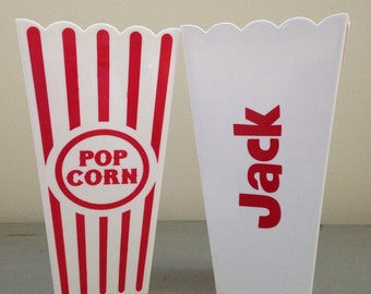 Personalized Popcorn Cups / Containers