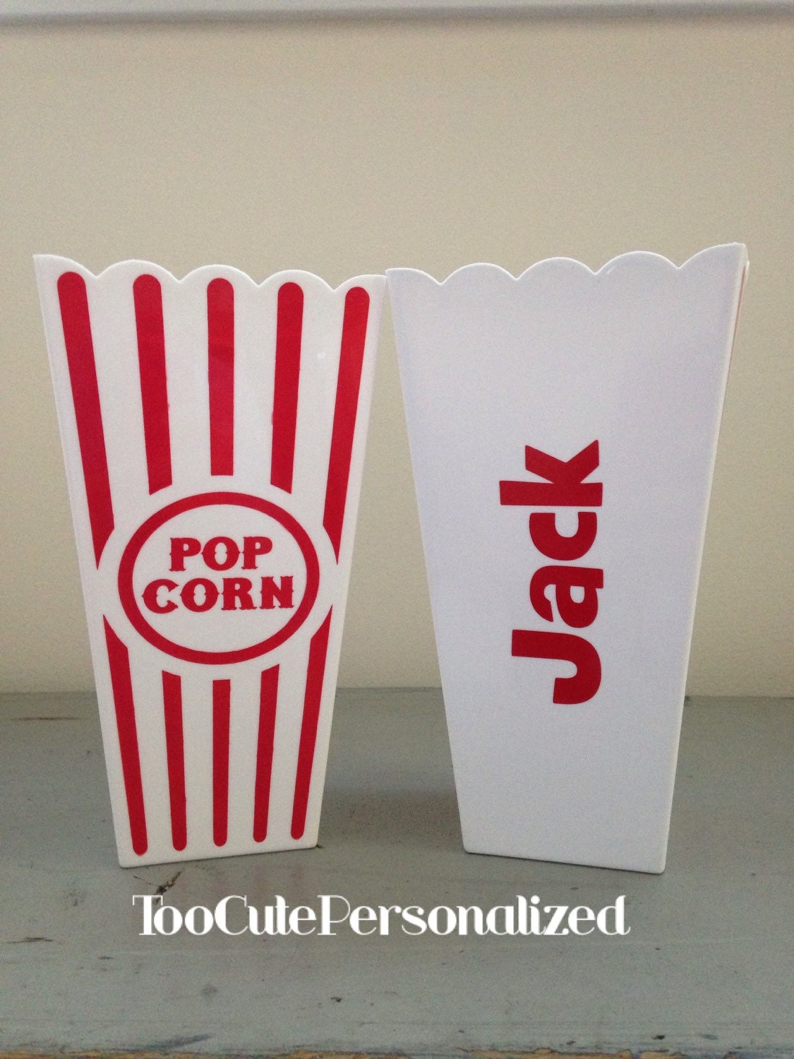 Personalized Popcorn Cups Containers