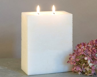 Ivory Two Wick Pillar Candle - Multi Wick Candle