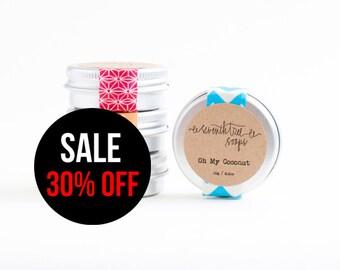SALE 30% OFF Coconut Lip Balm - Natural, Handmade, Vegan, Sugar-Free.