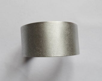 silver bracelet and textured