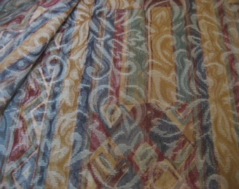 "2 Yds @ 54"" wide multi color damask upholstery with subtle stripe pattern"