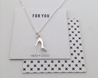 Silver Jewellery, Sterling Silver High Heel Necklace
