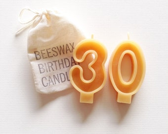 Beeswax Birthday Candle Numbers - Double Digits