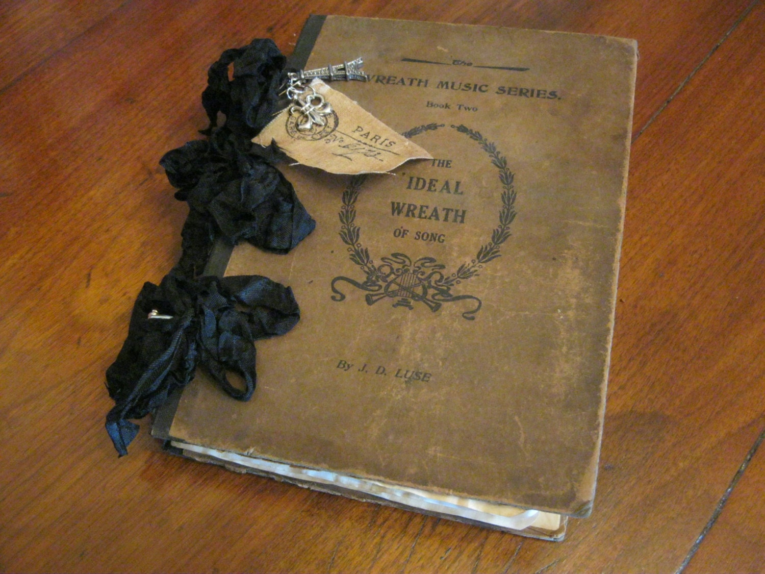 Old Book Cover Journal ~ Antique book cover junk journal french themed