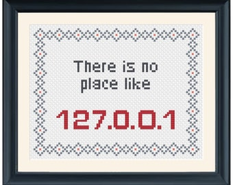There is No Place Like - Cross Stitch Pattern - Instant Download