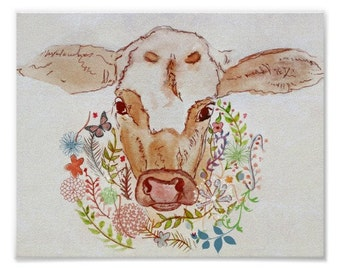 "Cow Print 10"" x 8"""
