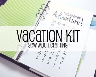 Printed Half Letter Size Vacation Kit
