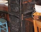 Vintage Antique Stacked Drawers Filing Cabinet