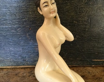 Beautiful Vintage Resin Chinese Doctor's Doll