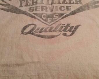 "Vintage Large Feed Sack. 21 1/2"" x 38"" long."