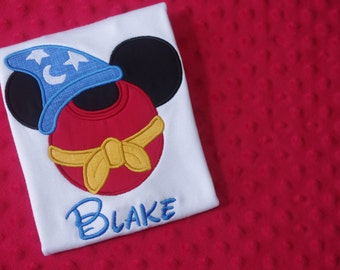 Mickey Sorcerer-- Disney Characters Mickey Mouse Ears Appliquéd Shirts or Onesies-- Family Vacation Shirts
