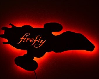 Firefly Serenity, Firefly Spaceship, Serenity Spaceship, LED Sign color changing