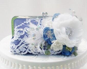 Blue Wedding / Gypsy Wedding /  Mother of the Bride / Wedding Clutch / Bohemian Wedding