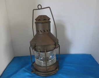 Oil Lamp - NAUTICAL LANTERN - Ship Lantern - Beach Decor Lantern