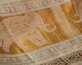 White Gold Pashmina Shawl Indian Elephant Scarf Wedding Wrap Silk Evening  Wrap Bridal Bridesmaid Shawl Scarf