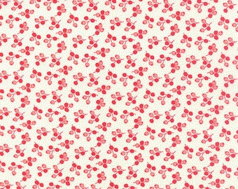 Little Ruby Little Tulip in Cream Fabric by Bonnie and Camille for Moda Fabrics