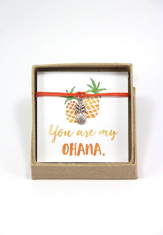You are my ohana - Pineapple Bracelet, Hawaiian Bracelet, Gift for