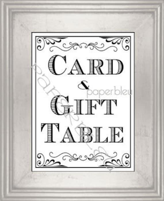 Wedding Gift Card Sign : Wedding/ Party