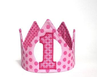 Girl First Birthday Party - First Birthday Crown - First Birthday Hat
