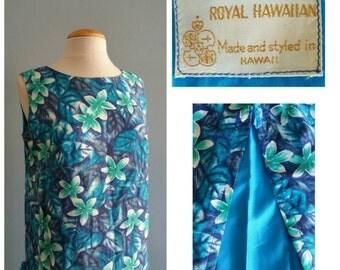 Royal Hawaiian plumeria shift dress.