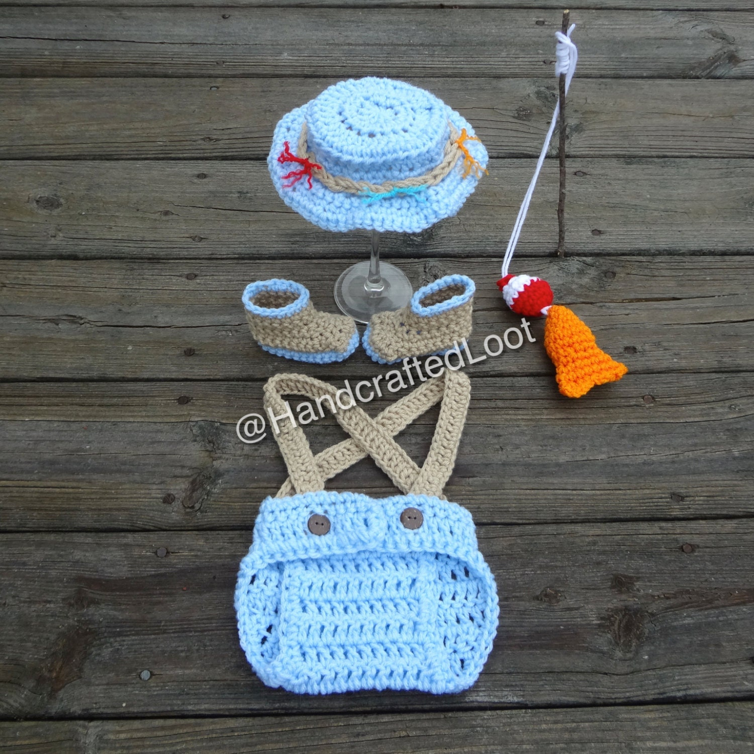 Baby fisherman outfit fishing hat photo fishing prop newborn for Baby fishing outfit