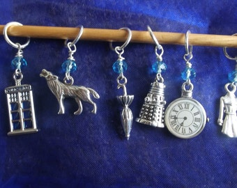 Dr Who inspired Knitting Stitch Markers
