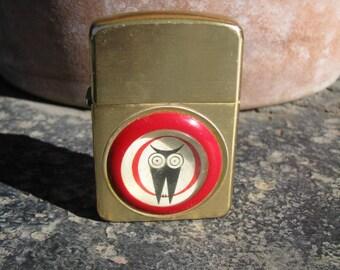 Vintage Cigarette Lighter With Owl Logo