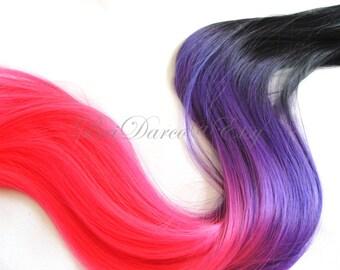 Peekaboo Highlights, Clip in Extensions, Hair Streaks, Clip in Streaks, Pink Hair, Purple Hair Extensions, Mermaid Hair, Halloween Hair