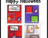 CLEARANCE SALE * Scrapbook Pages Scrapbook Paper Layout kit DIY Premade Scrapbook pages Scrapbook embellishments Halloween Paper piecing