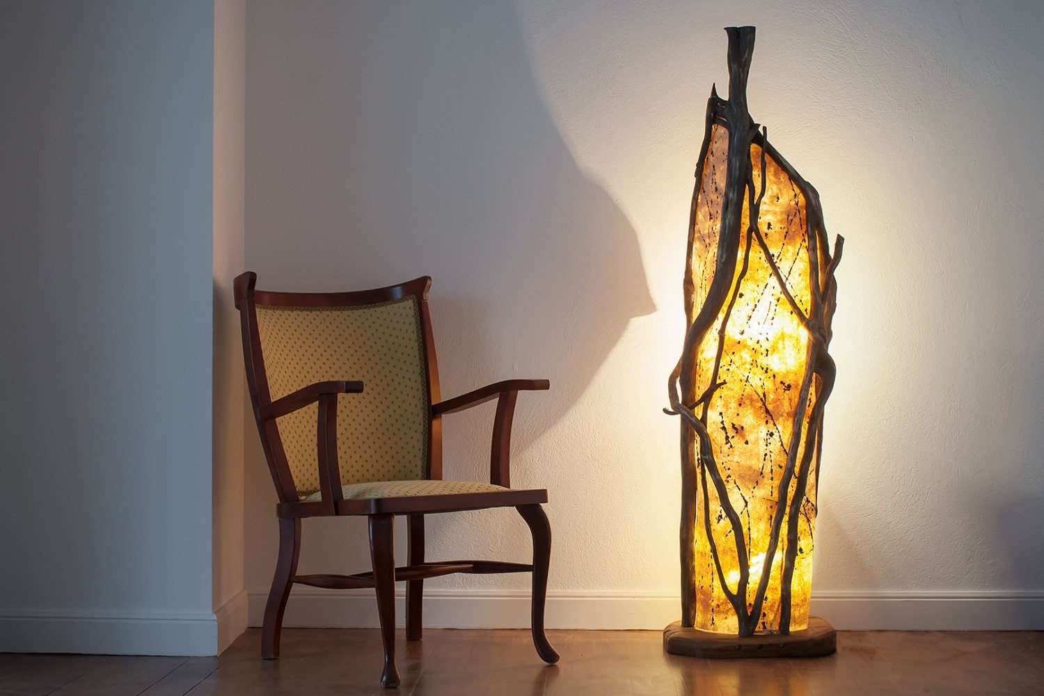 Handmade Wooden Lamps : Floor lamp design handmade wood ivy