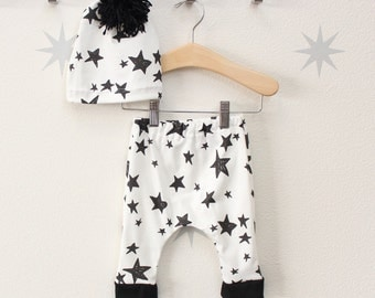 Black and White Star Harem Pants or Bloomers