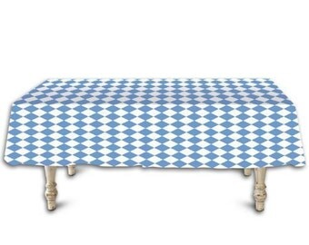 "Oktoberfest Bavarian Blue Diamond Tablecloth Roll. 40"" x 100'"
