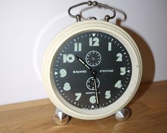 Vintage Alarm Clock - Bayard Stentor - France - Decorativ - 40s - Mid Century