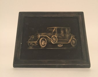 Vintage Car Plaster Wall Hanging