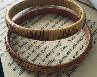 Pair of Vintage Basket Weave Bangles