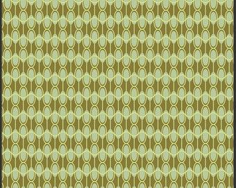 Clearance - Art Gallery Green Ovals 1/2 Yard Fabric
