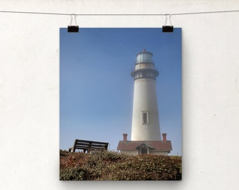 Oceanscape Photo, Pigeon Point Lighthouse Photographic Print, California