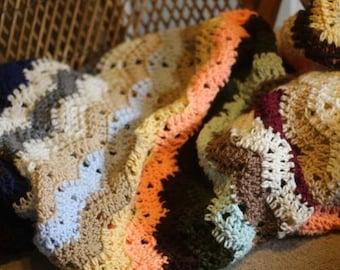 Blissful Chevron Crochet Afghan