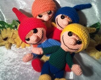 """PDF crochet pattern - pattern """"Dwarf of happy"""""""