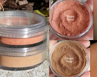 NEW! Fall Mineral Blush Duo- Part of the new Fall 2015 Collection- All Natural, Vegan Friendly