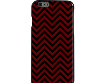 Hard Snap-On Case for Apple 5 5S SE 6 6S 7 Plus - CUSTOM Monogram - Any Colors - Mississippi State MSU Bulldogs Color - Chevron Pattern