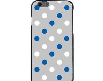 Hard Snap-On Case for Apple 5 5S SE 6 6S 7 Plus - CUSTOM Monogram - Any Colors - Kentucky UK Wildcats Colors - Polka Dots Pattern