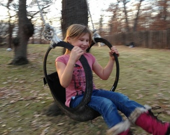 Child's Tire Swing- recycled materials